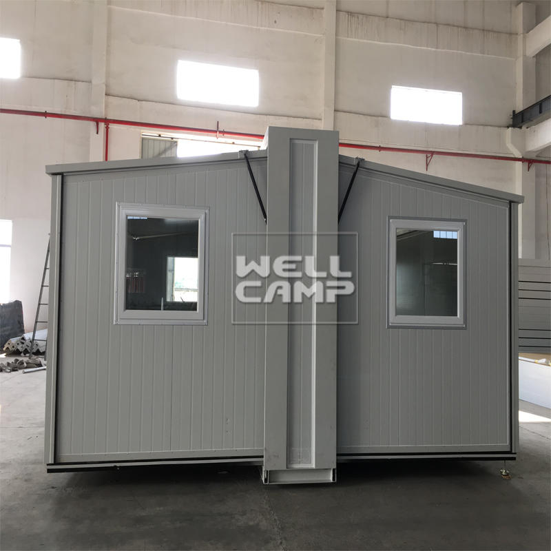 Wellcamp prefab expandable container house collapsible container house with electrical system expandable container homes for sale