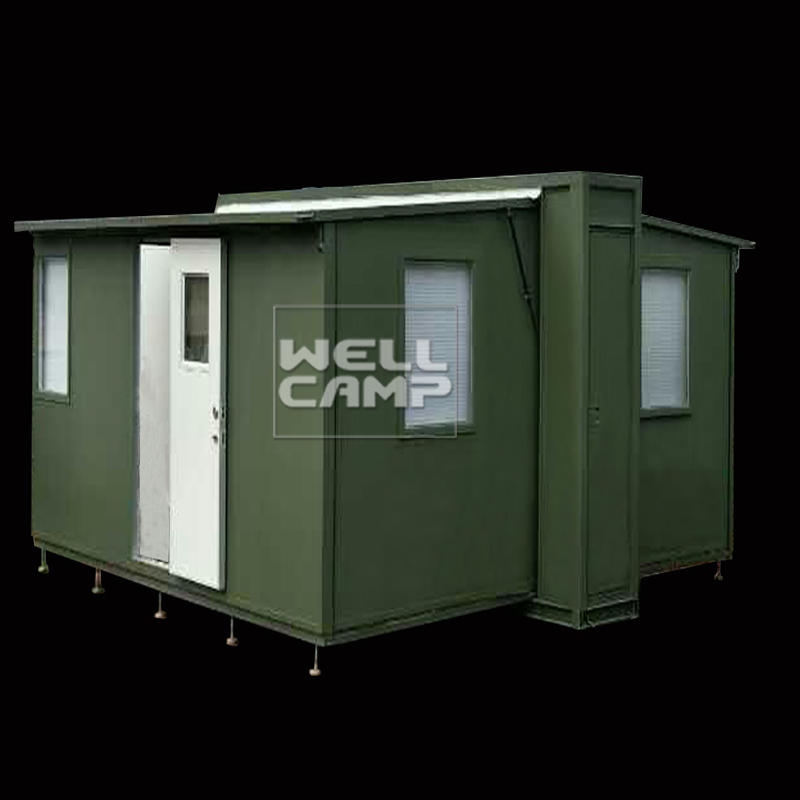 Wellcamp luxury expandable container house with two bedrooms one bathroom for family home mobile home models