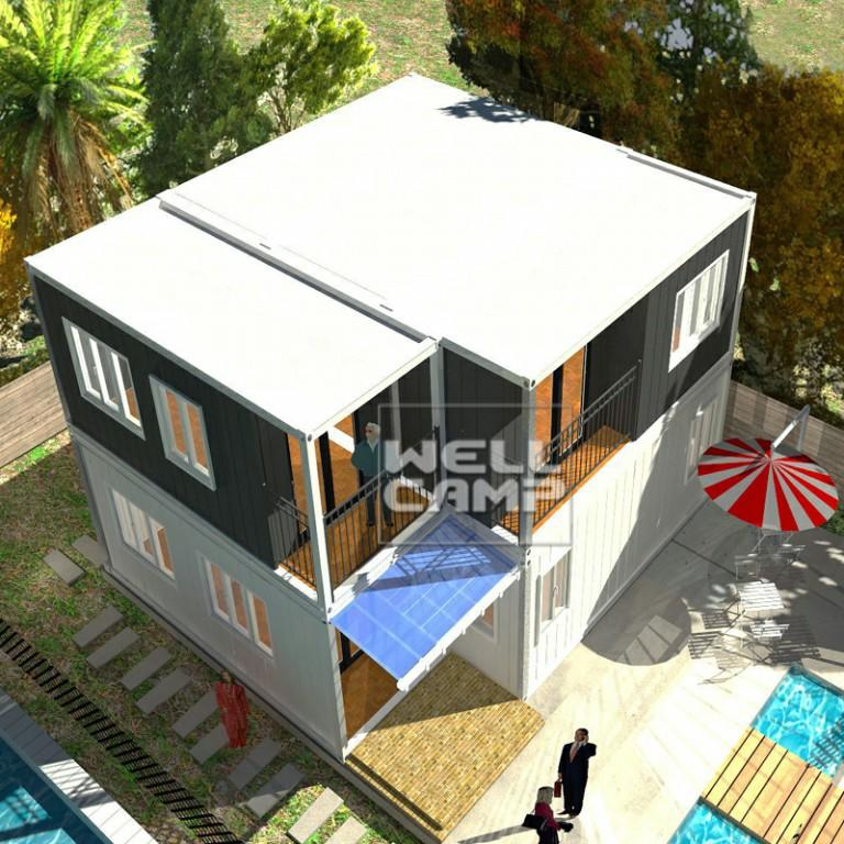 China modular container homes flat pack container house fireproof sandwich panel prefabricated homes