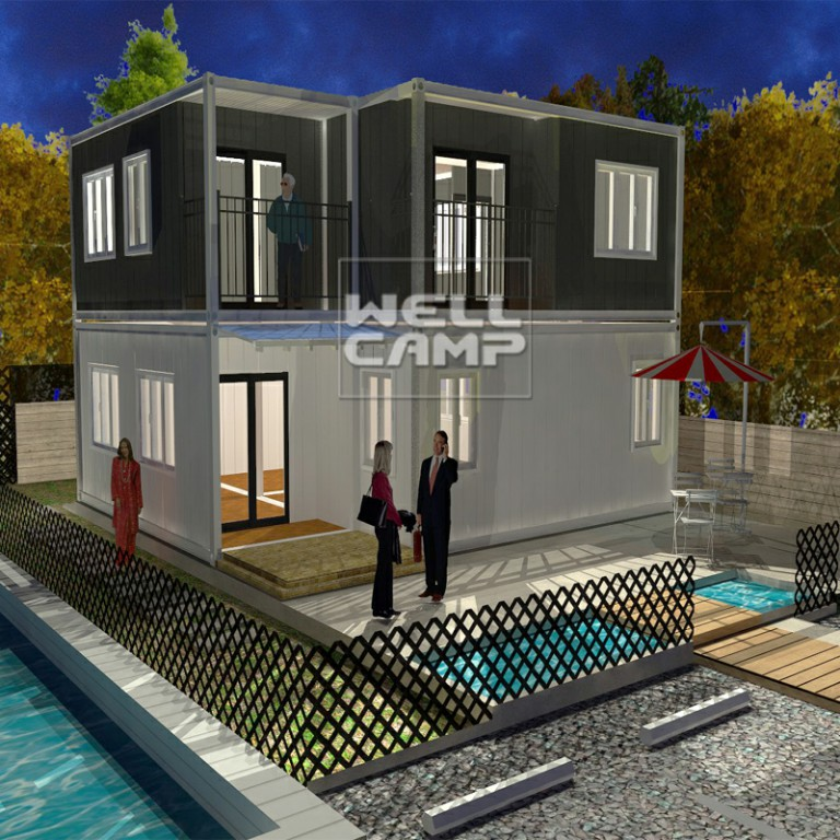 WELLCAMP-Container Homes Luxury Container Villa Two Levels Flat Pack Container-1