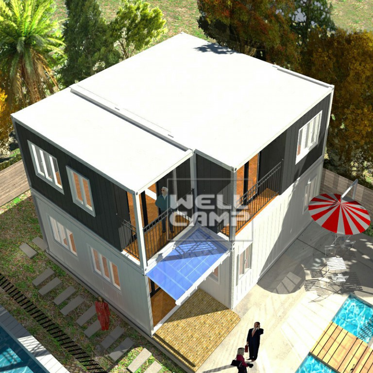WELLCAMP-Container Homes Luxury Container Villa Two Levels Flat Pack Container-21