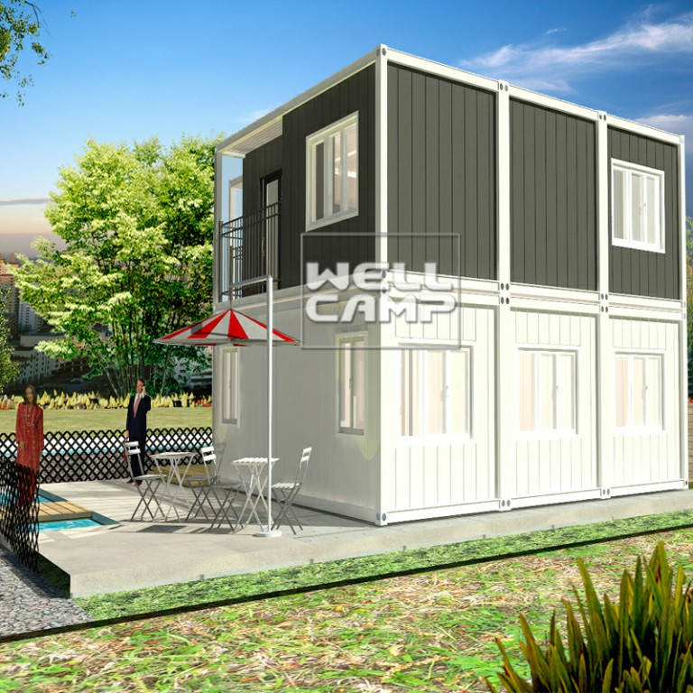 WELLCAMP-Container Homes Luxury Container Villa Two Levels Flat Pack Container-22