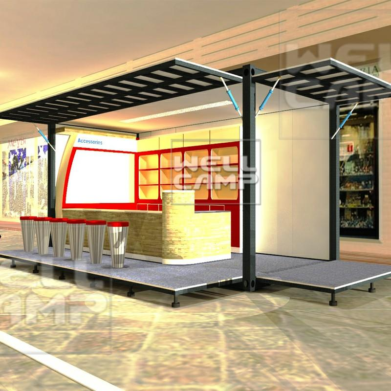 Wellcamp flat pack container shop in Europe using for temporary modular prefab house