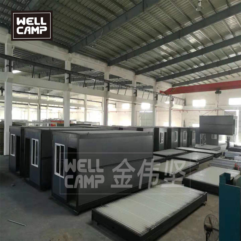 Folding container house in Germany modern prefab cabins China wellcamp prefab house