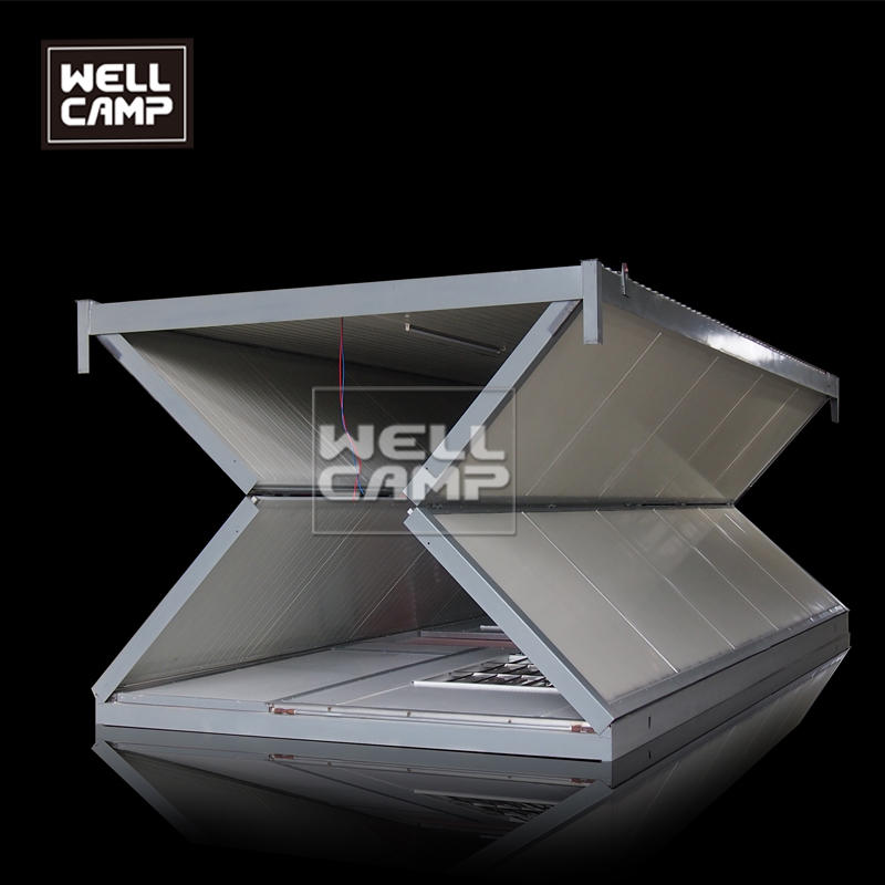 Wellcamp 20 ft foldable container house for sale collapsible prefab building