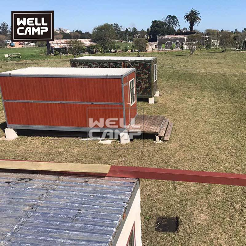 Wellcamp luxury folding container house fast install prefabricated container villa