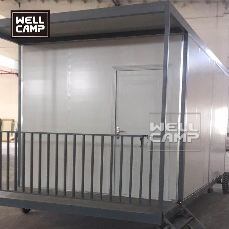 Wellcamp mobile detachable container house with wheels for fire department custom built mobile homes
