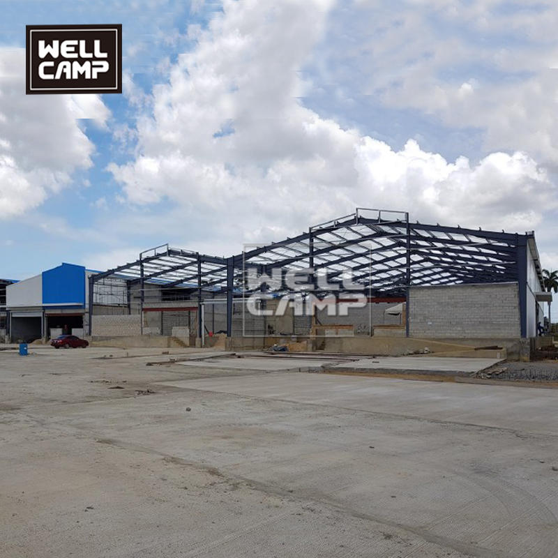 Customized steel structure workshop prefab steel construction building with one meter concrete