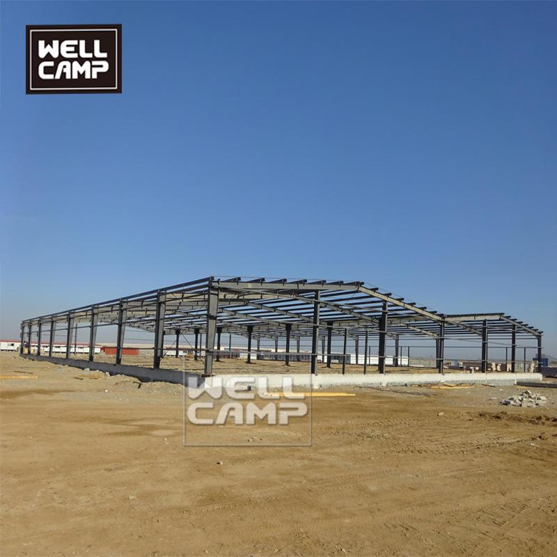 Prefab steel construction building steel frame warehouse cheap modern prefab labor camp