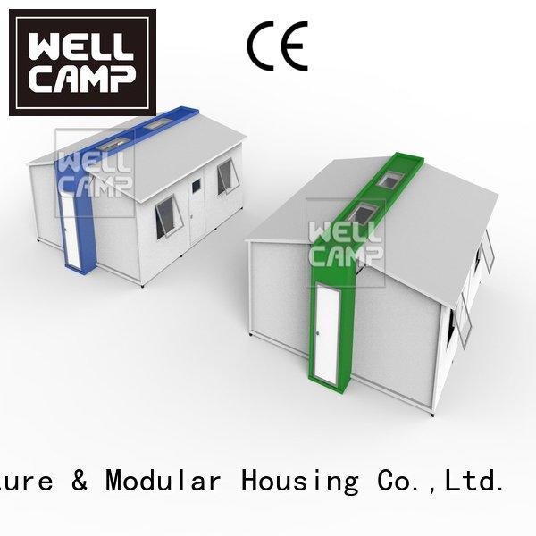 WELLCAMP expandable shipping container home family student dormitory expandable