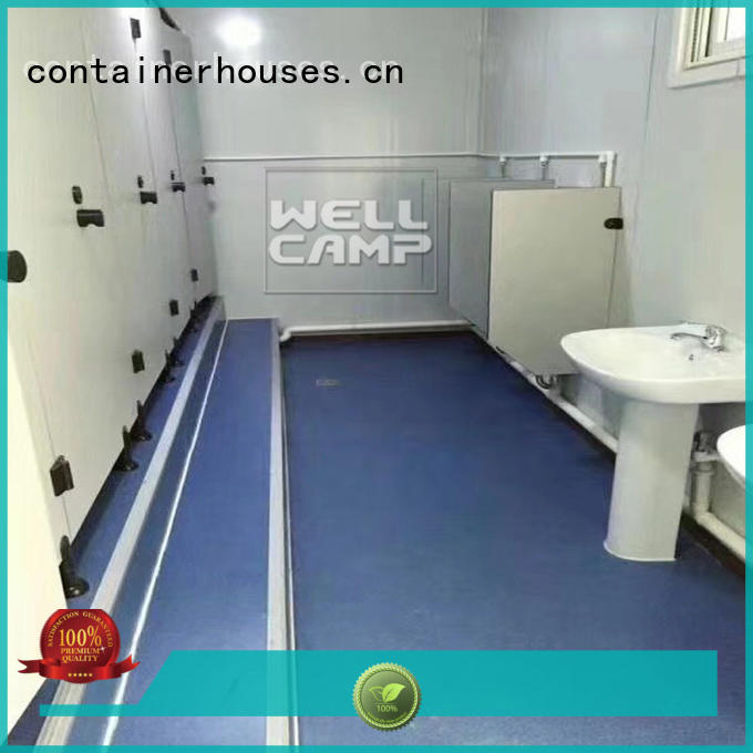 flat pack 20 ft container affordable shower WELLCAMP Brand company