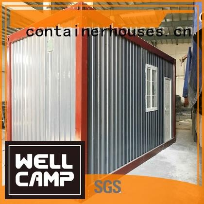 prefabricated container house red sandwich cross WELLCAMP Brand