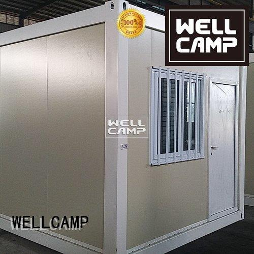 flat pack 20 ft container plat installation flat pack containers WELLCAMP Brand