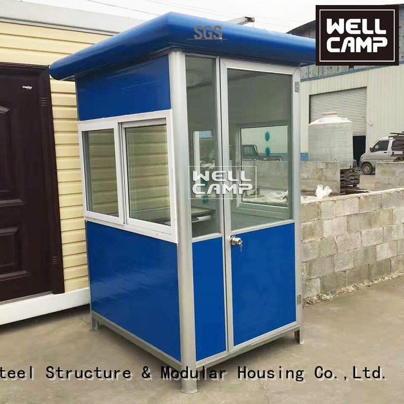 Custom security booth feet container shipping WELLCAMP