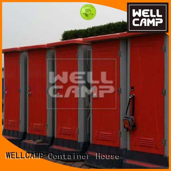 WELLCAMP wooden color container plastic portable toilet eps