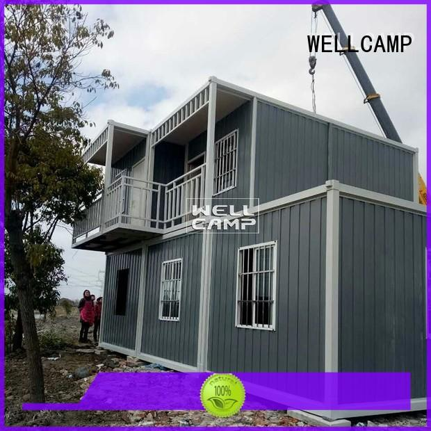 prefabricated container house red 50mm Bulk Buy fireproof WELLCAMP