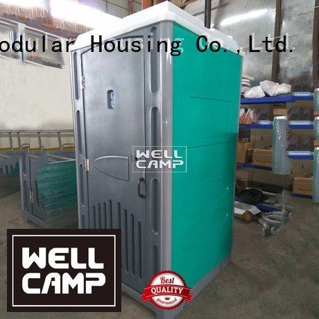 WELLCAMP plastic portable toilet hdpe panel toilet facilities