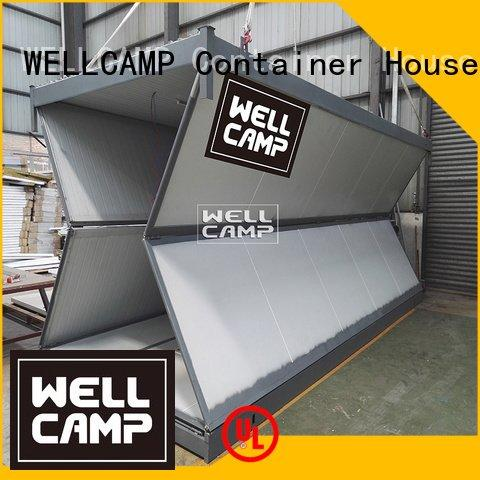 WELLCAMP system prefabricated foldable container family storey