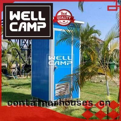 plastic portable toilet panel communal rotomolding WELLCAMP Brand