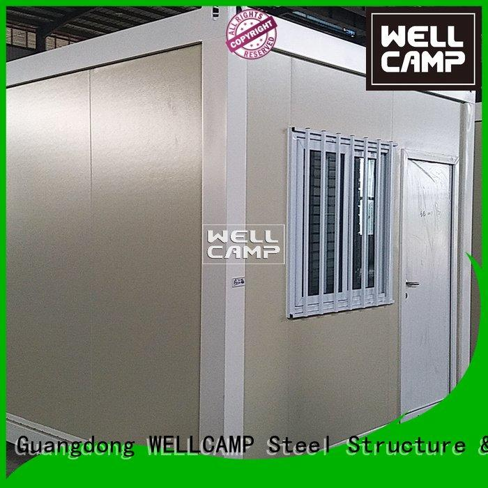Custom flat pack containers cladding glass