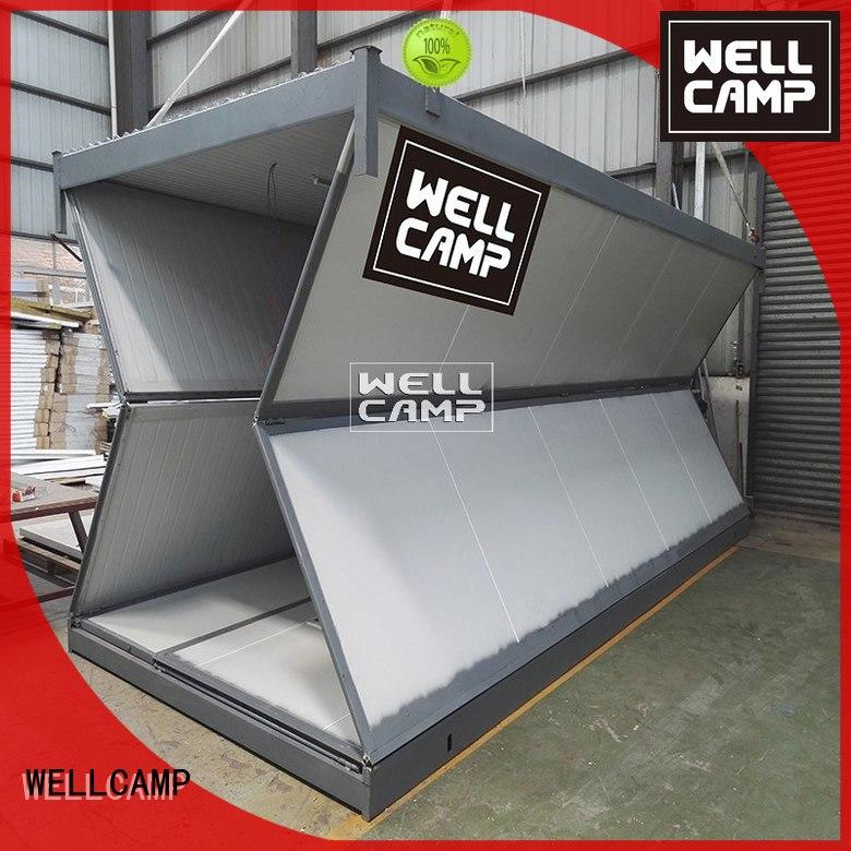 WELLCAMP Brand design prefab colour foldable container house