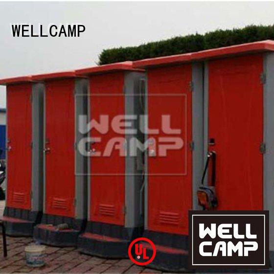 WELLCAMP Brand mobile outdoor panel plastic portable toilet