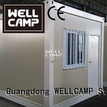 WELLCAMP Brand tiny flat pack 20 ft container galss structure