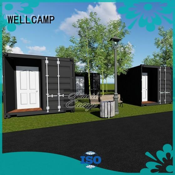 WELLCAMP Brand modified 20gp holiday custom houses made out of shipping containers