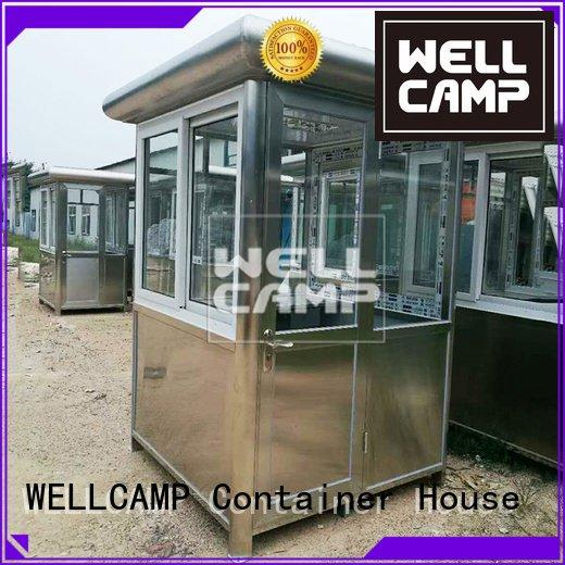 WELLCAMP security booth for sale 40ft shipping sandwich