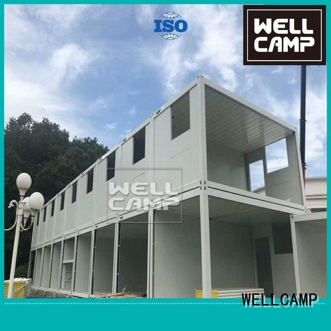 Hot flat pack 20 ft container modular flat pack containers house WELLCAMP