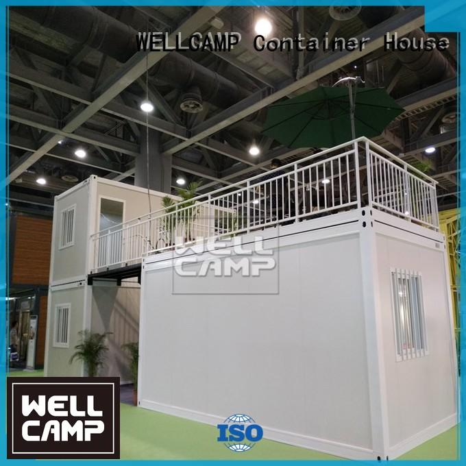flat glass installation flat pack containers container WELLCAMP