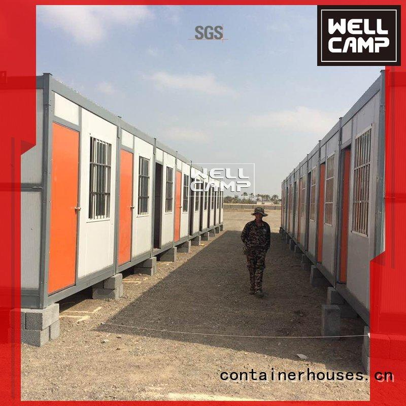prefabricated folding foldable WELLCAMP Brand foldable container house manufacture