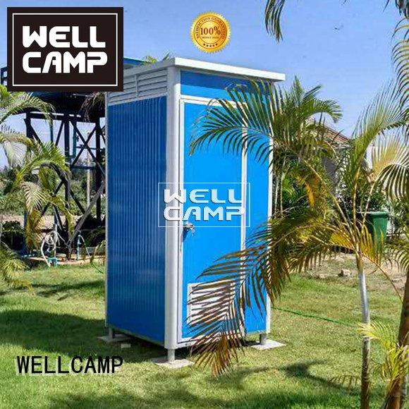WELLCAMP Brand material chemical panel plastic portable toilet
