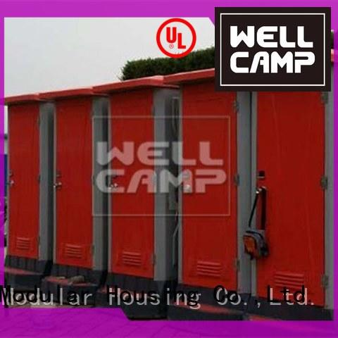 WELLCAMP Brand portable portable chemical toilet bathroom factory