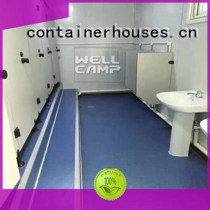 galss installation flat pack containers WELLCAMP Brand