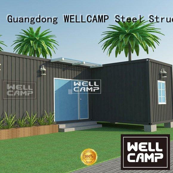 custom container homes floor container installation WELLCAMP