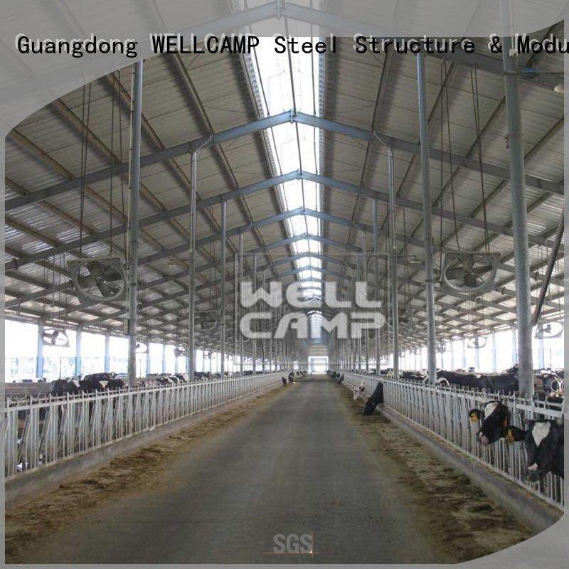 WELLCAMP Brand dairy eps prefabricated steel warehouse manufacture