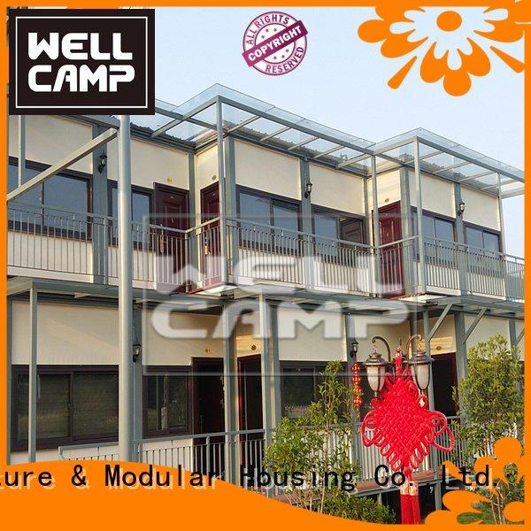 portable detachable levels one WELLCAMP container villa