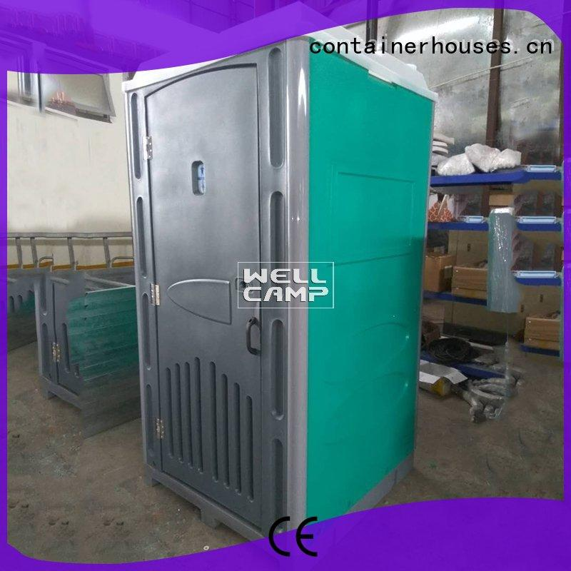 communal color WELLCAMP Brand plastic portable toilet factory