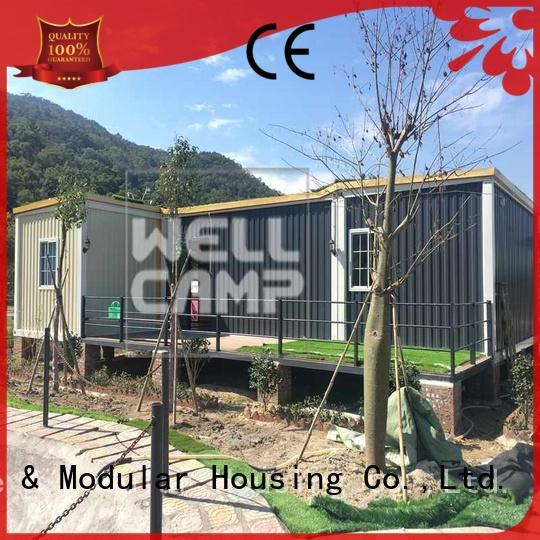 guest bedroom modern custom container homes WELLCAMP Brand