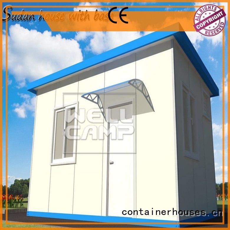 prefab office WELLCAMP Brand sudan houses factory