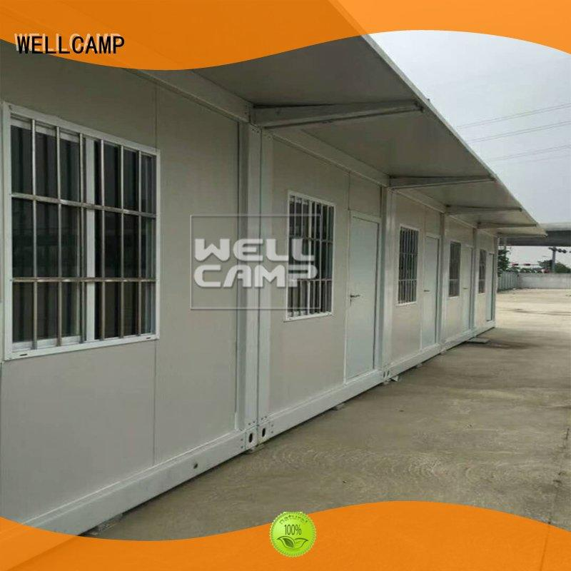 WELLCAMP Brand installation flat pack 20 ft container structure supplier
