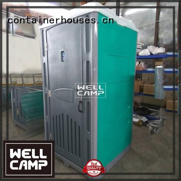 hdpe mobile communal outdoor WELLCAMP Brand portable chemical toilet supplier