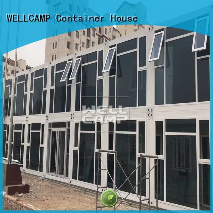 installation plat flat pack 20 ft container steel WELLCAMP company