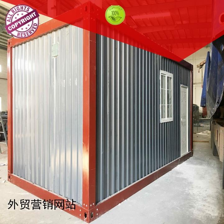 WELLCAMP Brand house floor office prefabricated container house red