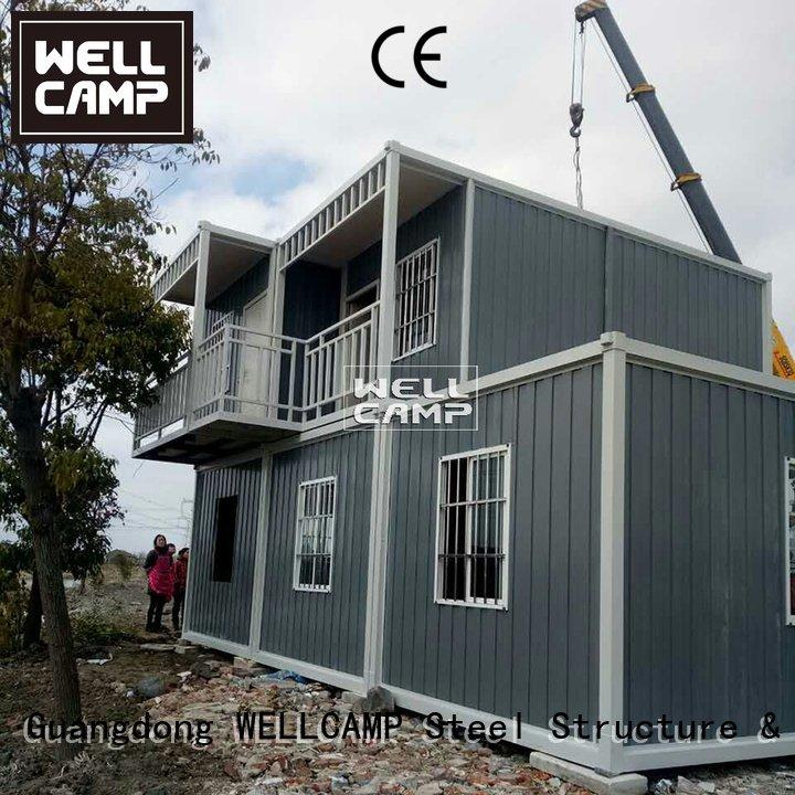 Hot prefabricated container house container container house for sale cross WELLCAMP