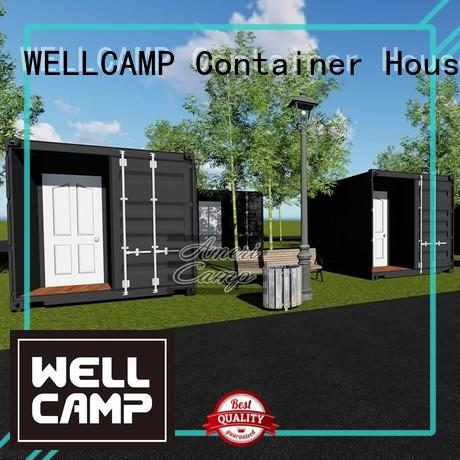 Custom modified shipping container home builders fireproof WELLCAMP