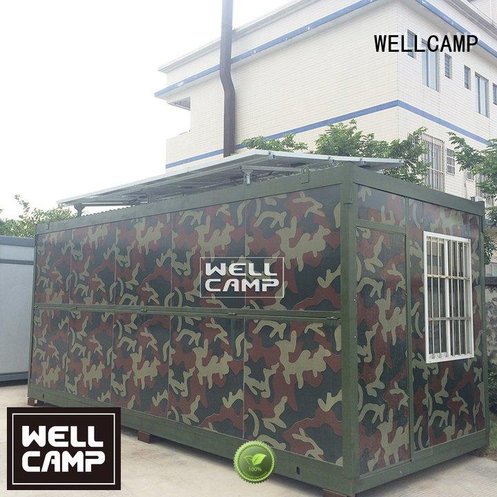 WELLCAMP Brand storey prefabricated solar foldable container house
