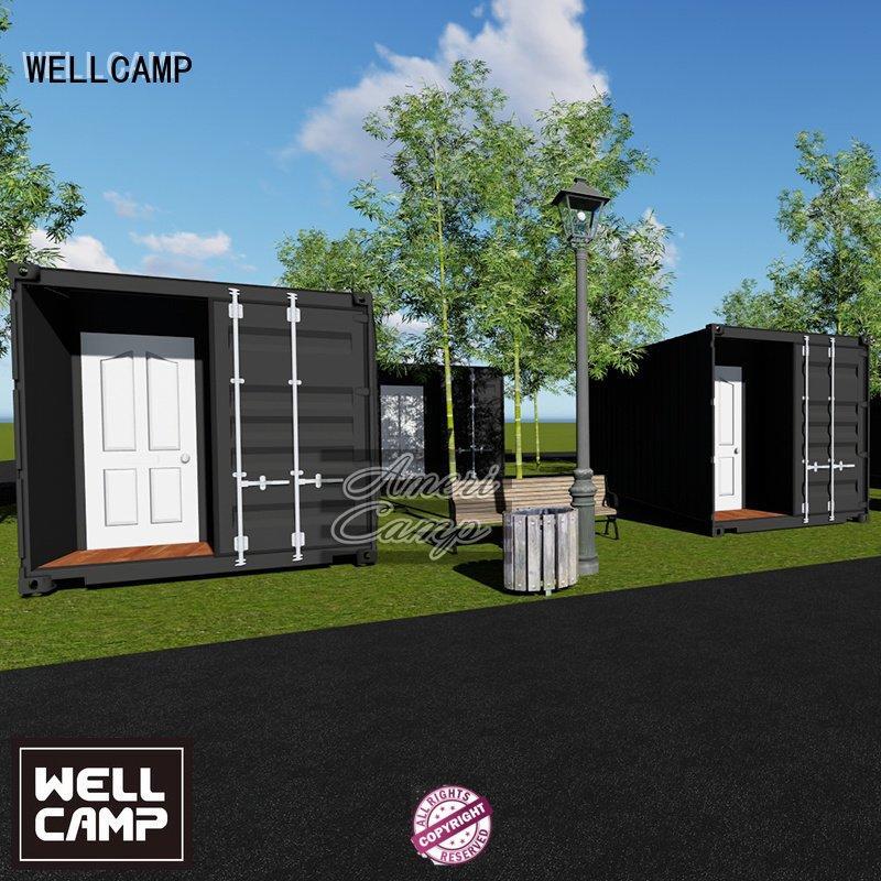 Hot houses made out of shipping containers sandwich 20gp twostorey WELLCAMP Brand