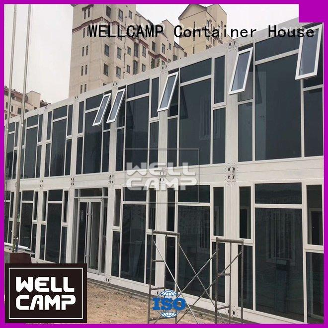 Quality flat pack 20 ft container WELLCAMP Brand prefab flat pack containers